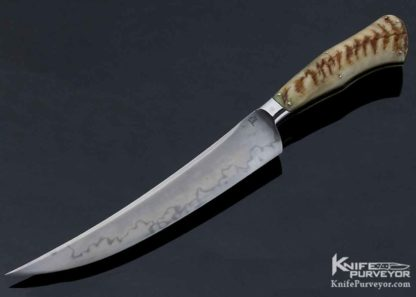 Knife Maker: Burt Foster, it is made of M.S. Integral and is named: Sheep Horn Fighter